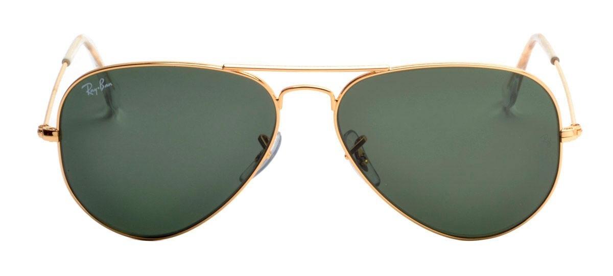 Carregando zoom... oculos de sol ray ban aviador lente cristal atacado  revenda 42aa19d83e