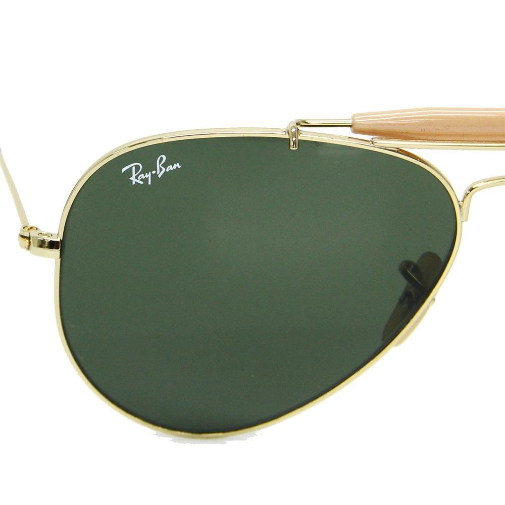 31ad56dce72f7 Carregando zoom... óculos de sol ray ban outdoorsman 3030 caçador original