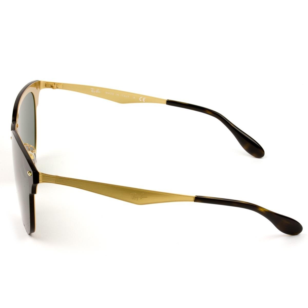 683d61d65 Carregando zoom. a9a5062e3c260 Ray Ban Blaze Clubmaster Rb3576-n 043 71 47  - Óculos De Sol ...