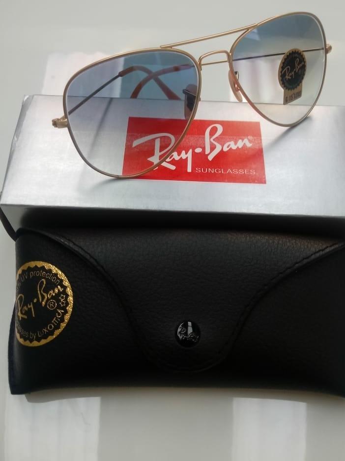 a9261e77289a0 Oculos De Sol Ray Ban Aviador Azul Degrade Rb3025 - R  299,99 em Mercado  Livre