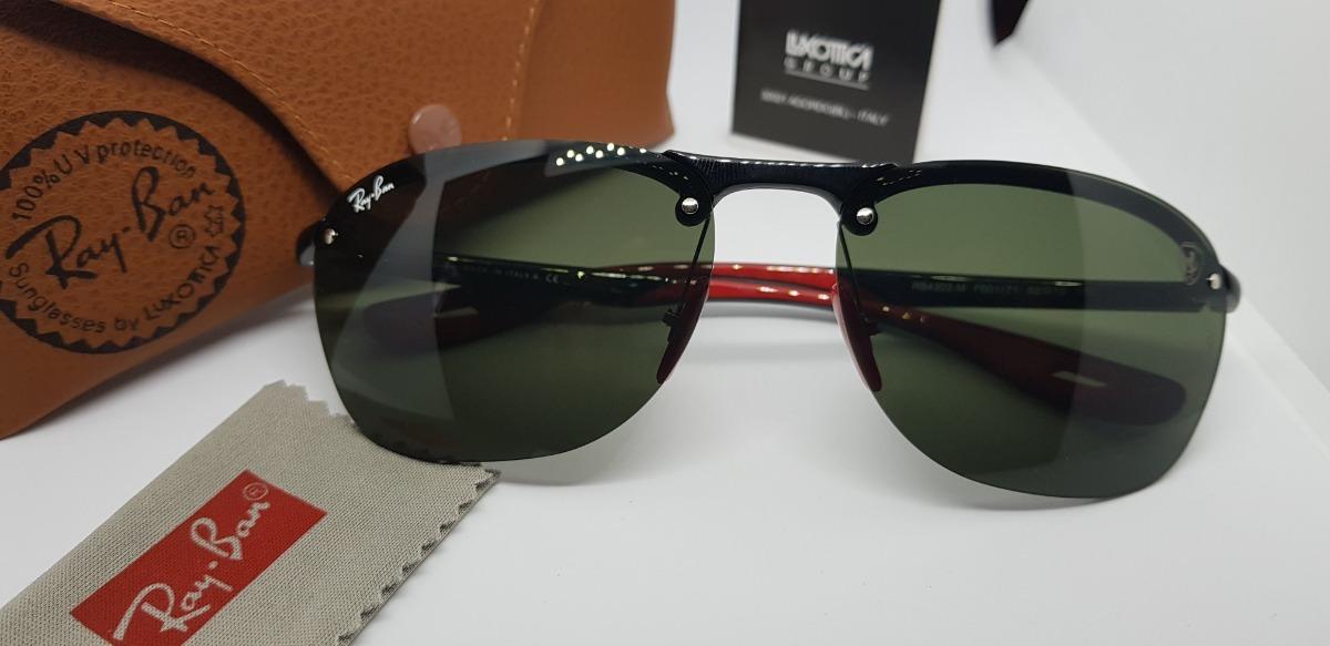 f2e3b46d9bc0e Óculos De Sol Ray Ban Rb4302m- Scuderia Ferrari- Verde G15. - R  290,00 em  Mercado Livre