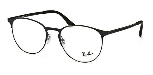ray ban oftalmico rb6375 2944 round negro mate icon original