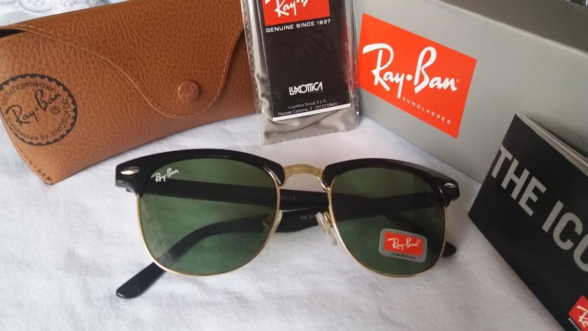 cc28e393d7 Ray Ban Original Clubmaster Rb3016 Lentes G15 - R$ 300,00 em Mercado ...