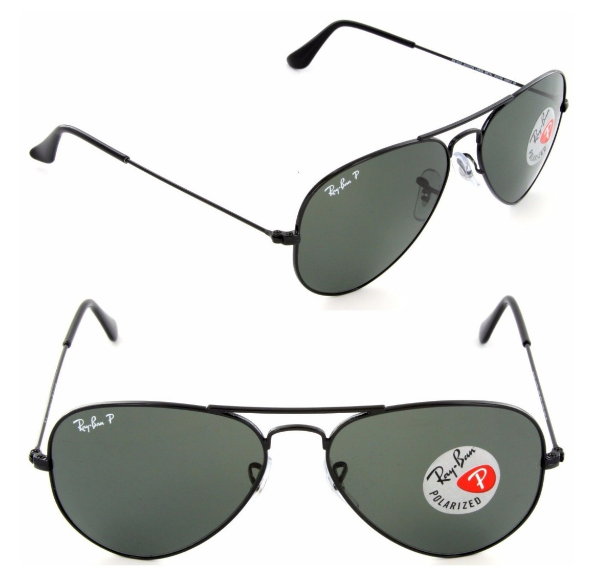 97d7c3f320796 ray ban polarizado rb3025 002 58 58 aviador preto medio 3025. Carregando  zoom.