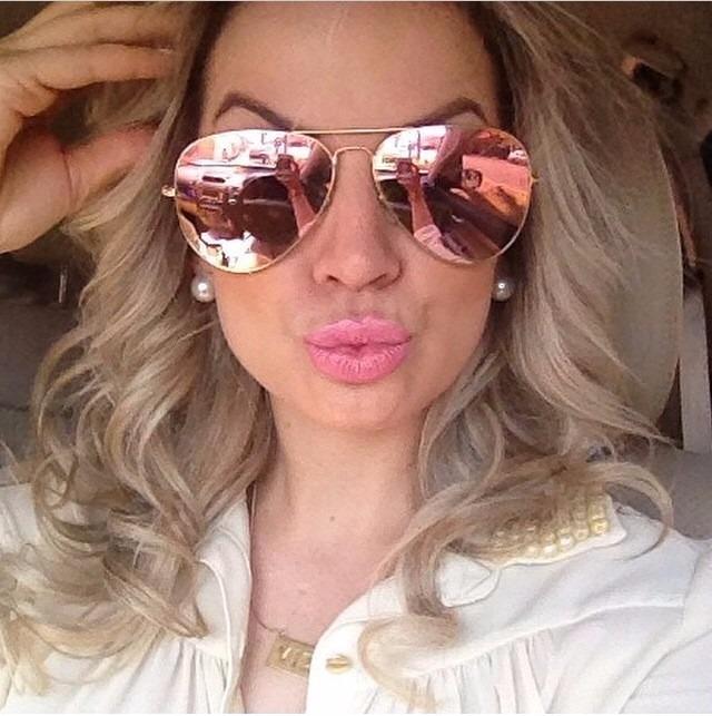 2ab86ddb5acd2 ray ban lente rosa espelhado