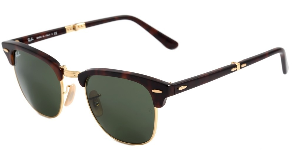 90d50c576190b ray ban rb 2176 clubmaster dobrável - óculos de sol 990 -. Carregando zoom.