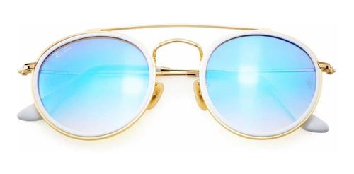 ray ban rb 3647n montura redondo lente azules degradados