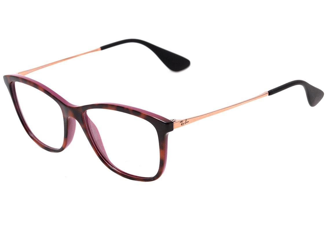 e78833d9a5592 Ray Ban Rb 7135 L - Óculos De Grau 5823 - R  359,10 em Mercado Livre