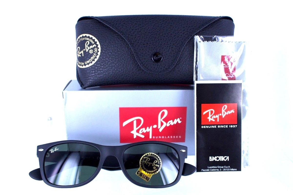 b0b432673cd05 ray ban rb2132 622 new wayfarer negro mate original clasico. Cargando zoom.