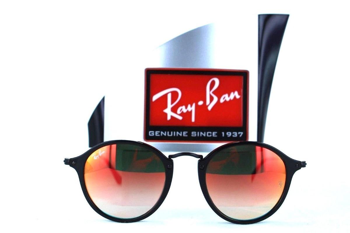 87d2274c8d Ray Ban Rb2447 901/4w Round Fleck Rojo Degradado Negro - $ 999.99 en ...
