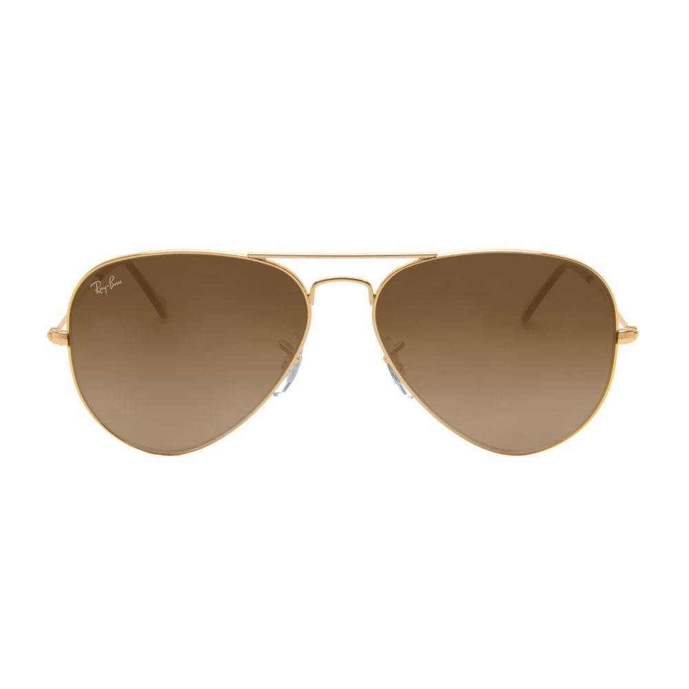 ff50618f2 ray ban rb3025 001/57 58 dourado aviador marrom original. Carregando zoom.