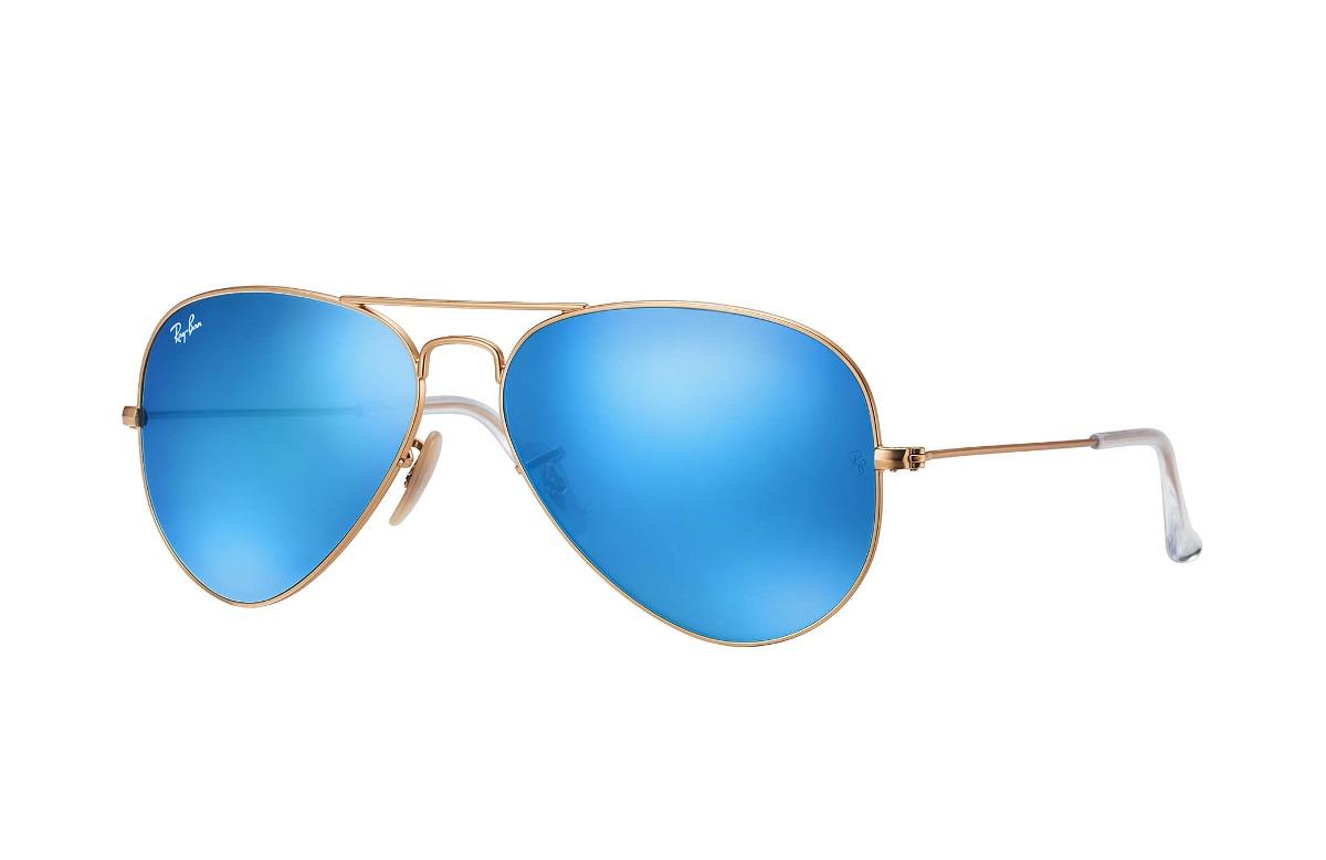 7076767679 ray ban rb3025 112/17 aviator azul espejo dorado gota piloto. Cargando zoom.