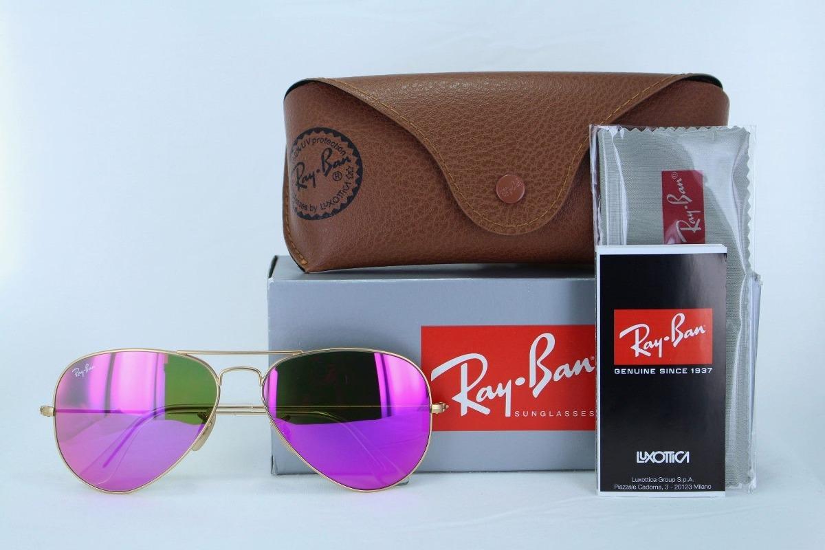 Ray Ban Rb3025 112 4t Aviator Rosa Espejo Dorado Barbie -   899.99 ... a29fa5f9ed