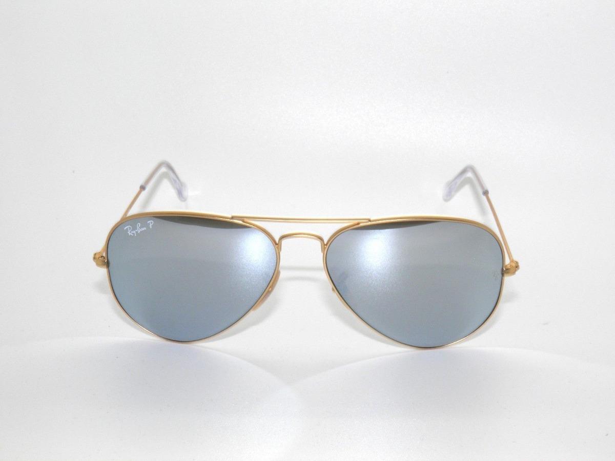 9318ba516 ray ban rb3025 112/w3 aviator polarizado plata espejo dorado. Cargando zoom.