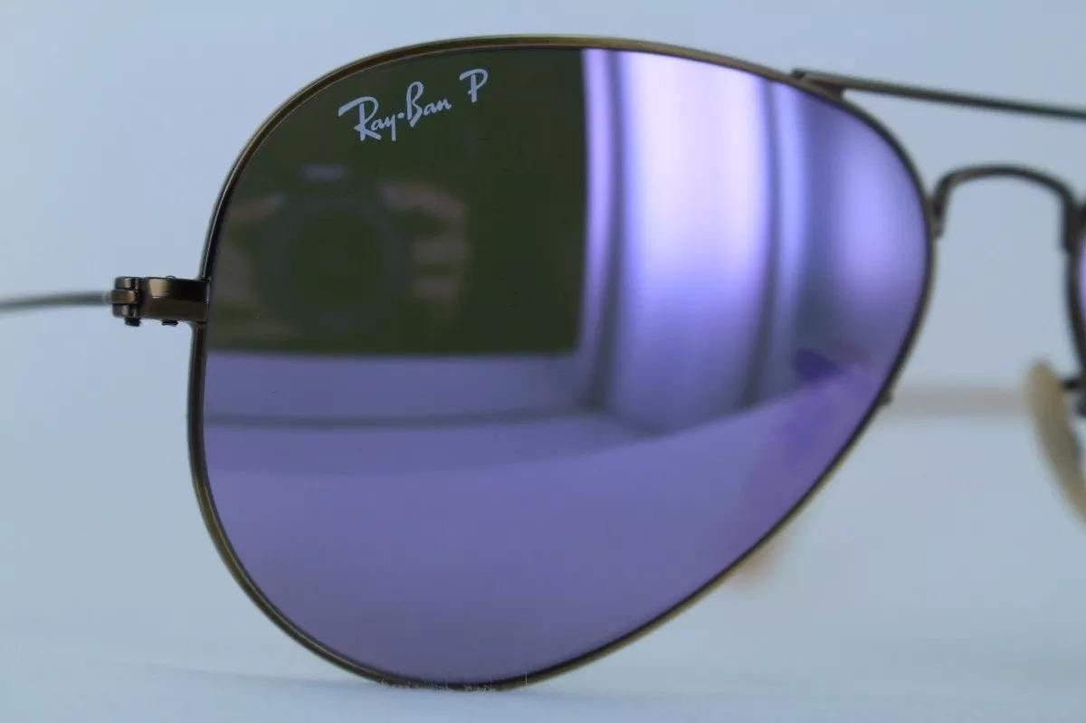 190a57a2c ray ban rb3025 167/1r 58-14 aviator polarizado lila espejo. Cargando zoom.