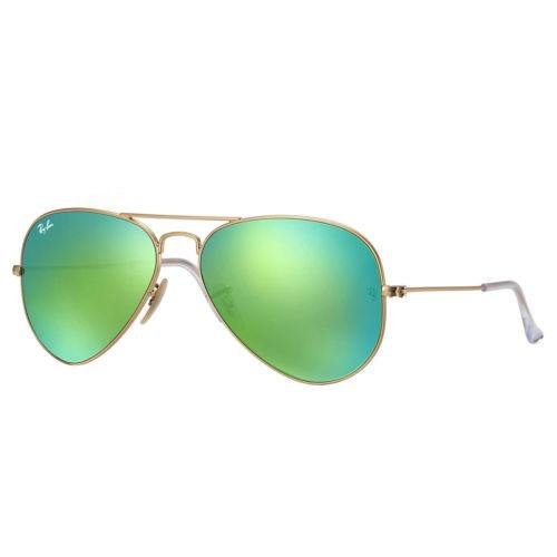 Ray-ban Rb3025 Aviator Flash Gafas De Sol Dorado   Verde Fl ... 93a90cccde