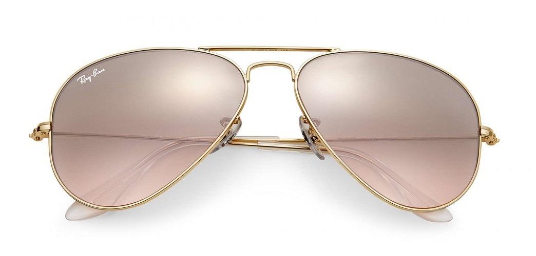 586b3bdf3faa0 ray ban rb3025l 001 3e 58 aviador espelhado rosa dourado. Carregando zoom.