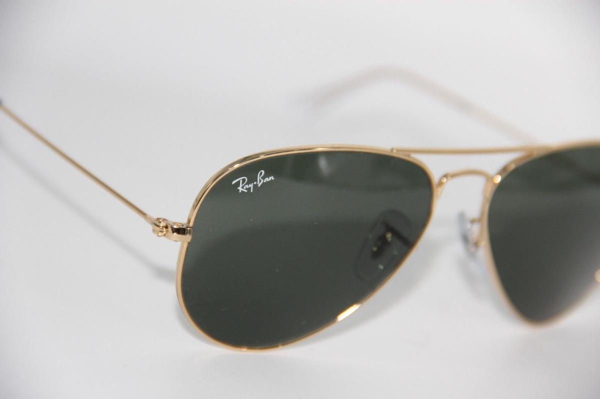 a540755203ceb ray ban rb3026 l2846 aviator gota grande g-15 dorado clasico. Cargando zoom.
