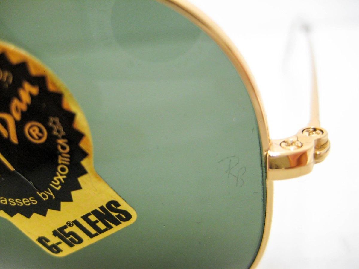 276e5471e8615 ray ban rb3026 l2846 gota grande aviator negro dorado g-15. Cargando zoom.