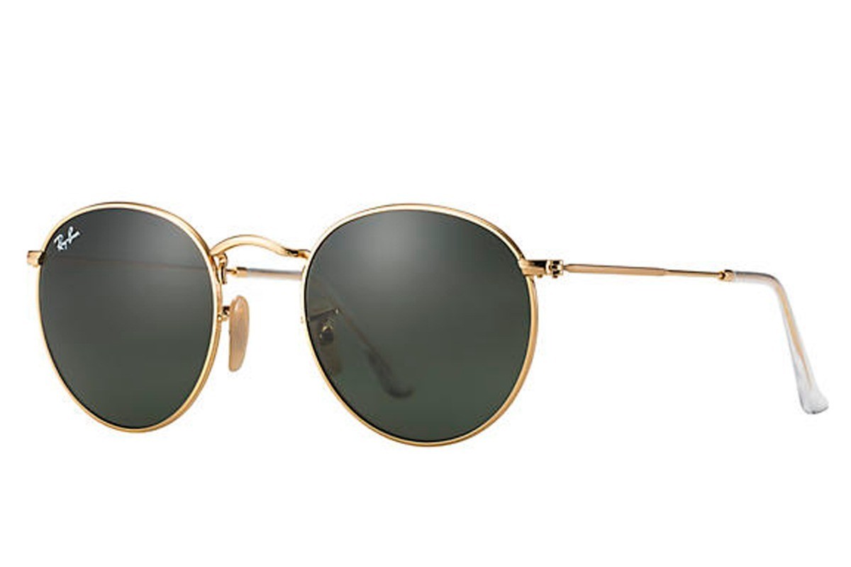 9208fbf08 ray-ban rb3447 round metal original dourado lentes pretas. Carregando zoom.