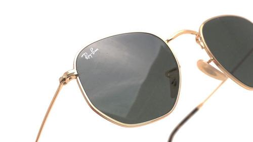 ray ban rb3548n 001 hexagonal flat lenses negro g-15 dorado