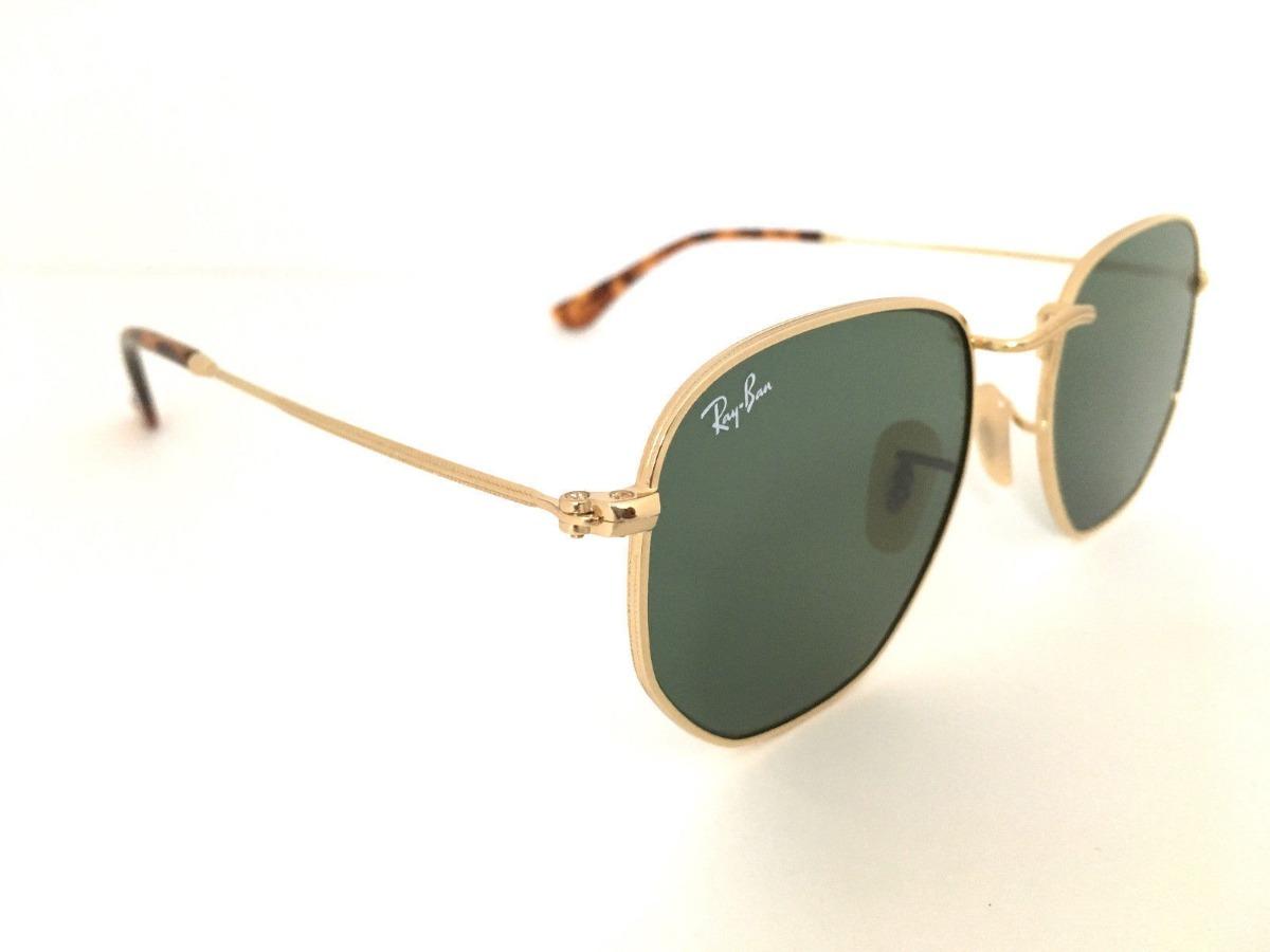 ray ban rb3548n 001 hexagonal flat lenses verde g-15 dorado. Cargando zoom. 8c17819e26