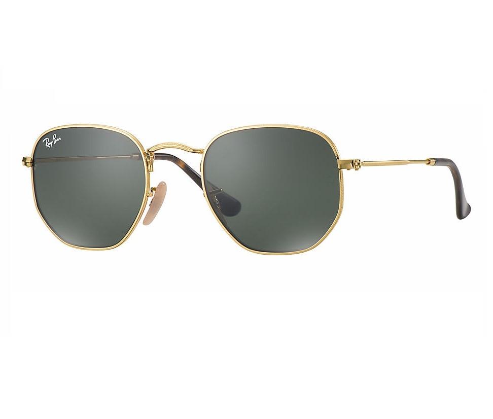 b51712042 Ray Ban Rb3548n 001 Hexagonal Óculos De Sol Tam. 5,4 Cm - R$ 276,00 ...