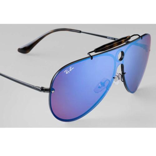 657566816f544 Ray-ban Rb3581n Blaze Shooter Negro   Violeta Y Azul Espejo ...