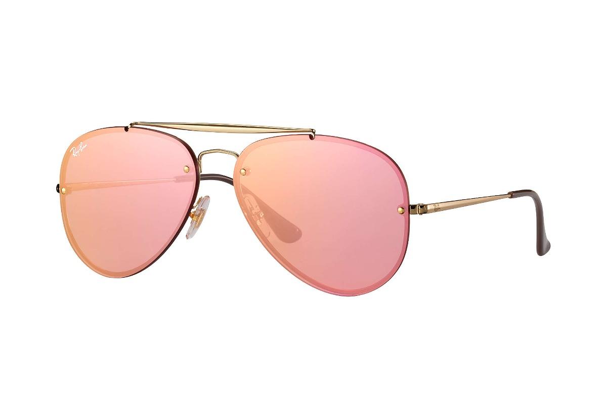 6d6beca3deace ray ban rb3584n 9052e4 aviator blaze rosa espejo dorado. Cargando zoom.