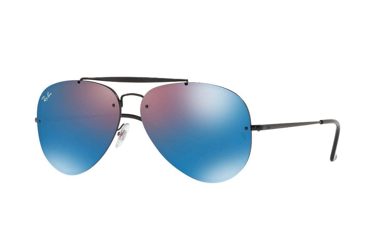 5b4d2aa0e3a38 ray ban rb3584n 90827v aviator blaze azul espejo negro icon. Cargando zoom.