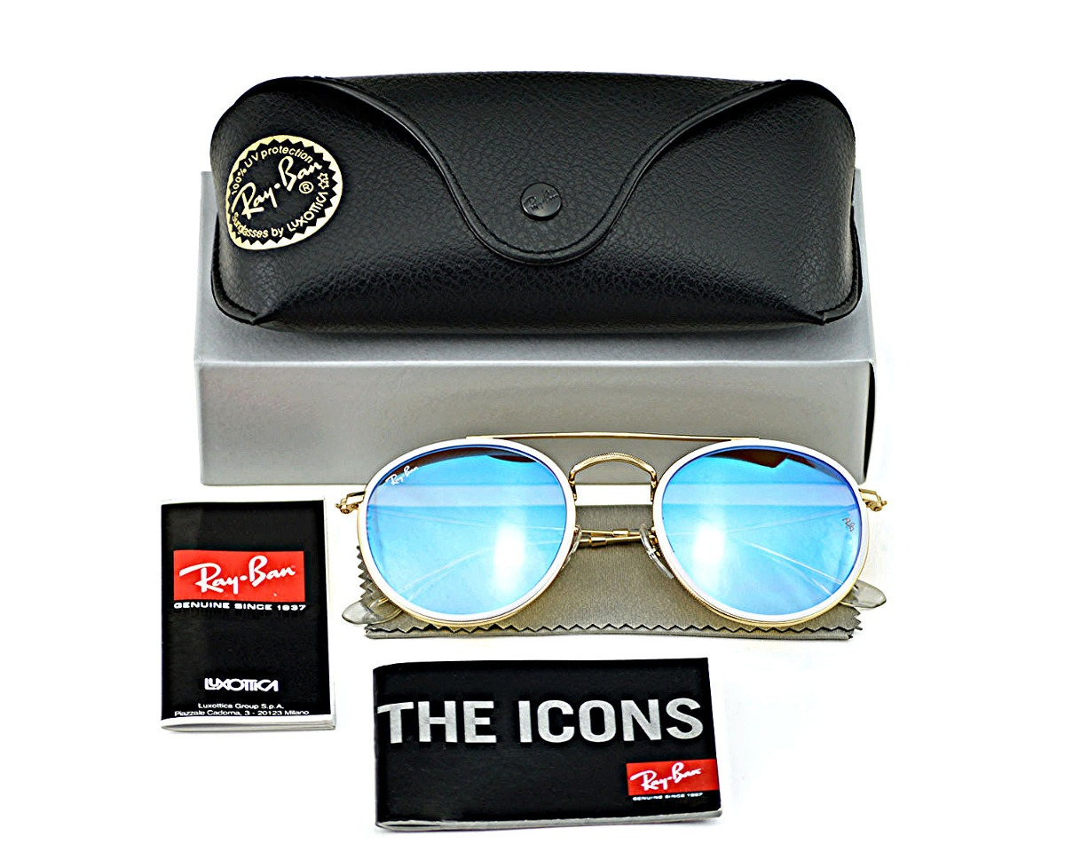 ray ban rb3647n 001 4o round double bridge turquesa dorado. Cargando zoom. 1ddf7de1bb