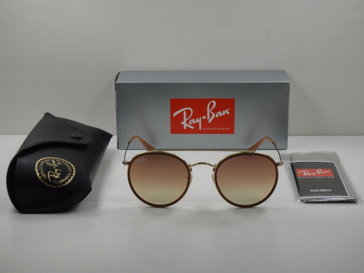 ray ban rb3647n 001 7o round double bridge rosa espejo dorad. Cargando zoom. 1658d19433