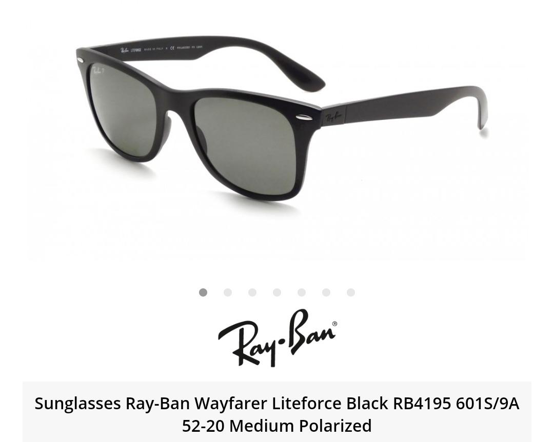 08e42a6d74a6c Ray Ban - Rb4195 601-s 9a Polarizado - Óculos De Sol T52 - R  599