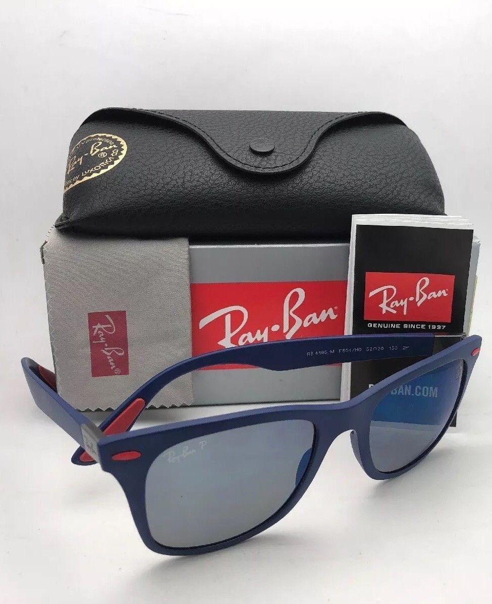 fd0ab99893 Ray Ban Rb4195m F604 h0 Wayfarer Liteforce Ferrari Azul Rojo ...
