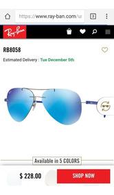 7298605a7 Ray Ban Aviador Lente Azul Degrade Varias Cores Frete Gratis - Gafas ...