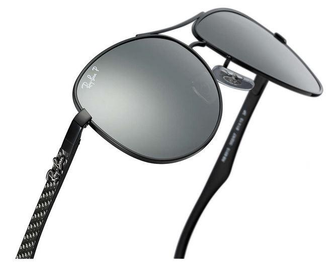 45caa1d01 ... coupon code for ray ban rb8313 002 k7 61 polarizado preto espelhado rb  3025 9de6e d8617 shop ray ban rb 3025 aviador polarizado Óculos de sol ...