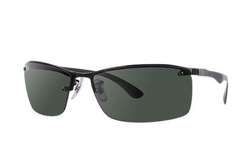 ray ban rb8315 002/71 fibra carbono black lentes green origi