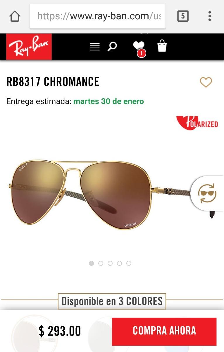 87cec885a9b89 ray-ban rb8317ch gafas aviador espejados oro polarizados new. Cargando zoom.