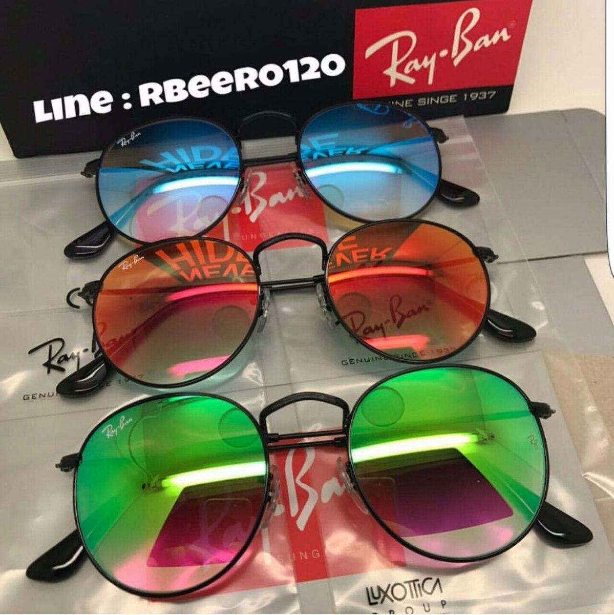 ac5763219cd5d Ray Ban Round Vermelho Espelhado Rb 3447 Original Feminino - R  350 ...