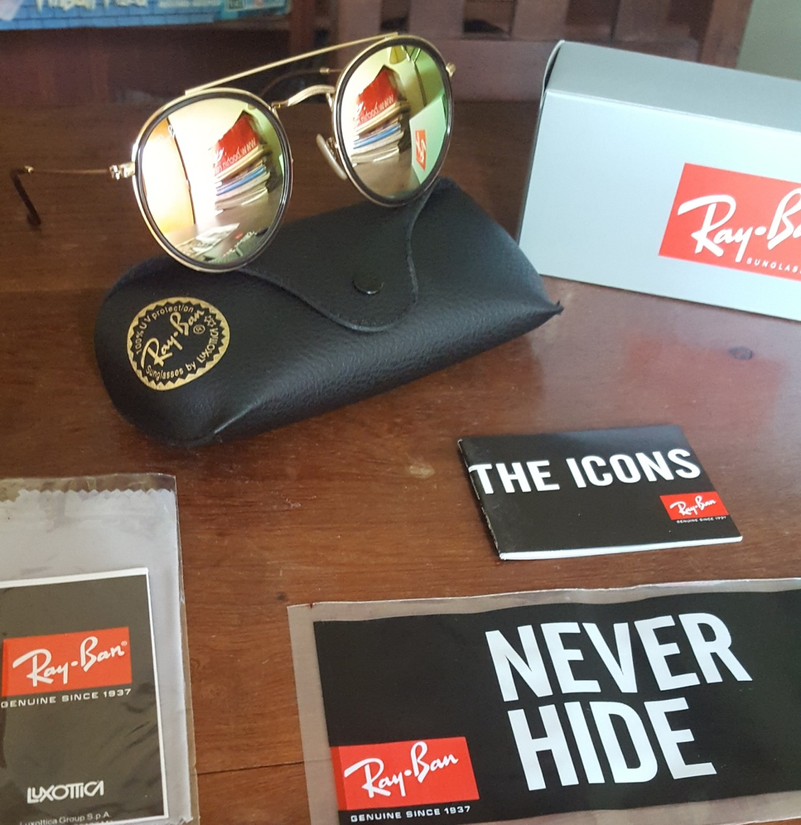Ray Ban Round Double Bridge 3647 001 70 Original Nuevo -   2.095,00 ... 0b1327e0d9