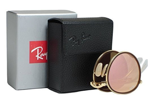 ray ban round metal folding rb3517 originales made in italy