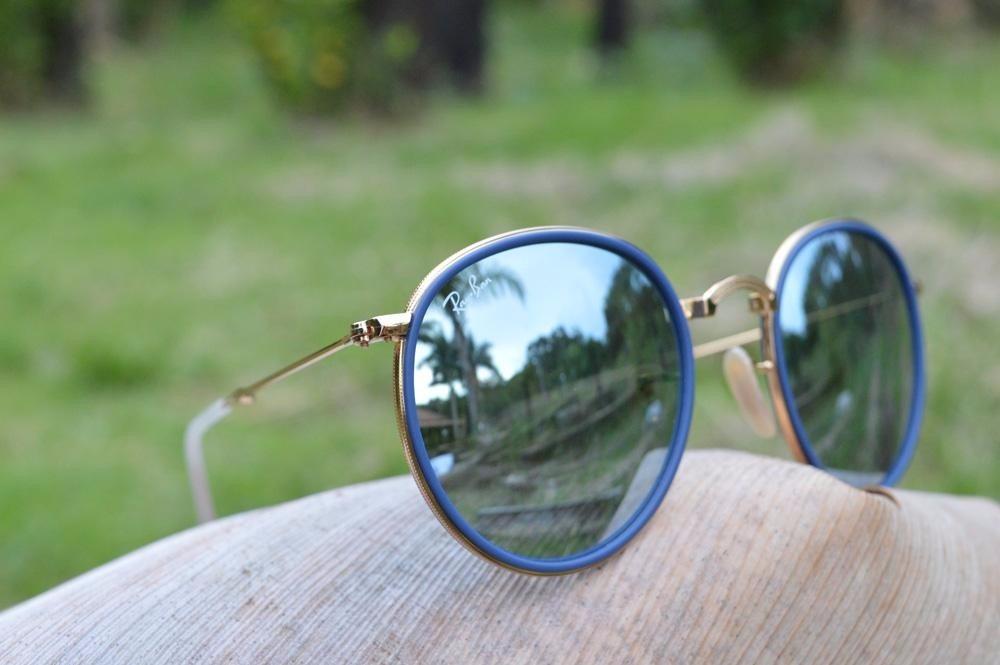Óculos De Sol Feminino, Ray Ban, Redondo, Round, Original - R  18deeafd54