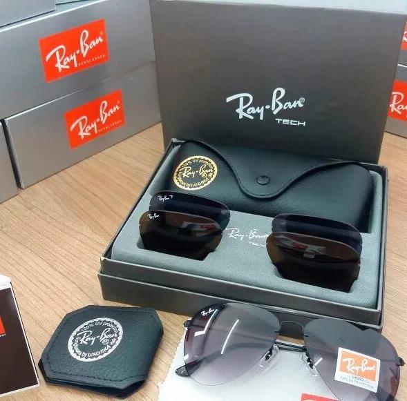 45e9b8289f7dc ... 50% off ray ban tech flip out rb3460 troca lentes original 3 lentes  c74f4 d4c78 ...