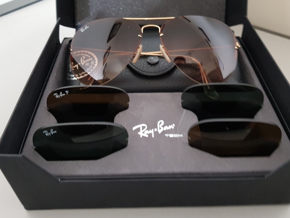... official store ray ban tech flip out rb3460 troca lentes original 3  lentes. carregando zoom ... e5bcb630f11c