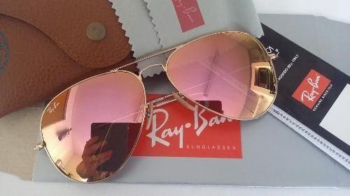 400ed284fb142 Ray Ban Top Aviador 3025 Dourado Lente Rosa Espelhado - R  249,90 em ...