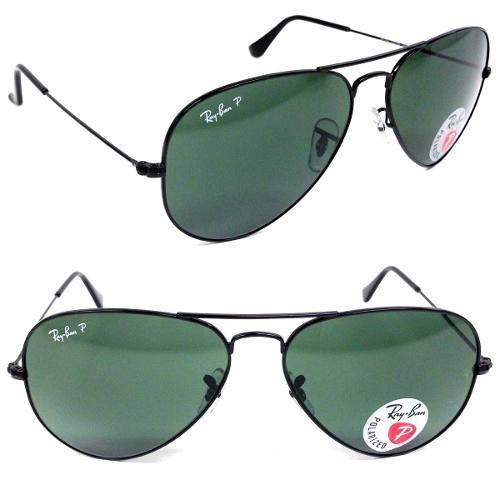 735a90c82 ray ban top polarizado rb3025 002/58 62 aviador preto grande. 4 Fotos