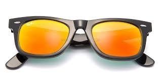 ray ban cristales naranjas
