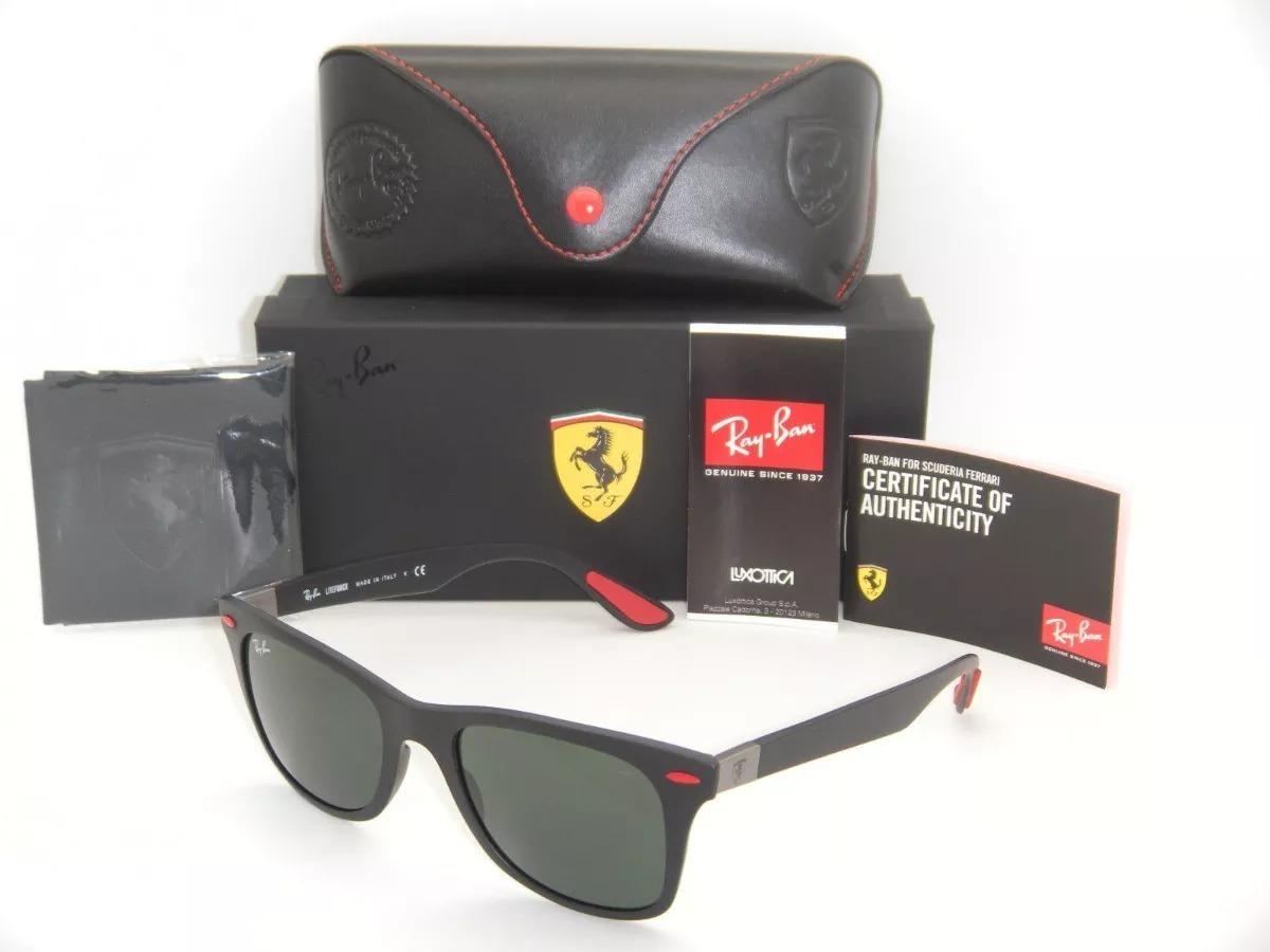 425179f1bff58 Ray-ban Wayfarer Ferrari Rb4195 Preto - Promoção - - R  398,49 em ...