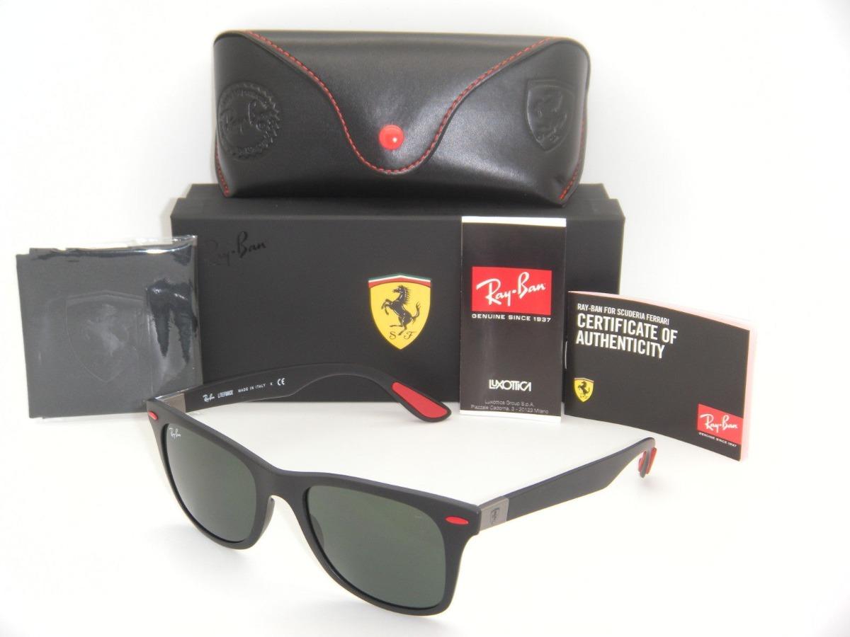 8921a055f0c34 Óculos Ray-ban Rb4195 Wayfarer Liteforce Ferrari Envio 24h - R  299 ...