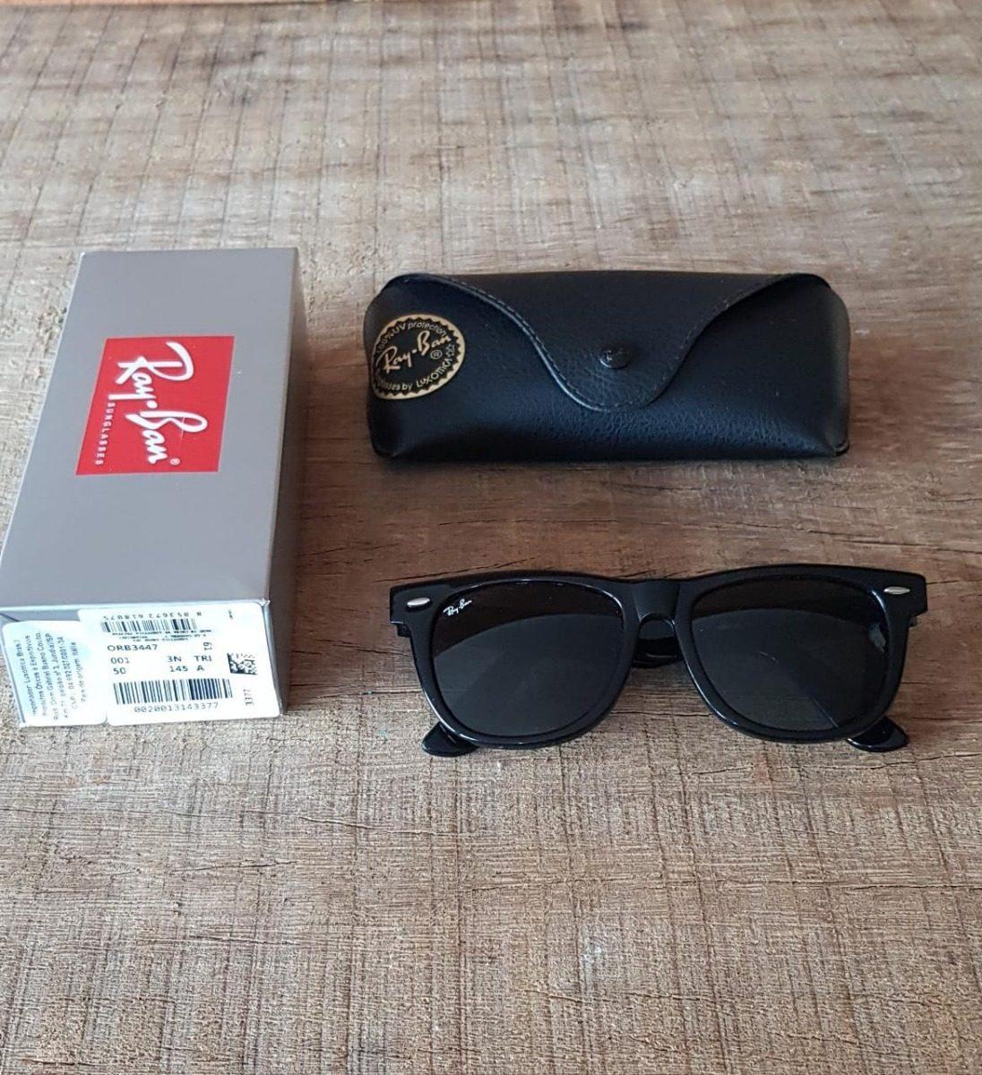 f9edcae69b61f ray ban wayfarer rb2140 preto brilho original promoção. Carregando zoom.